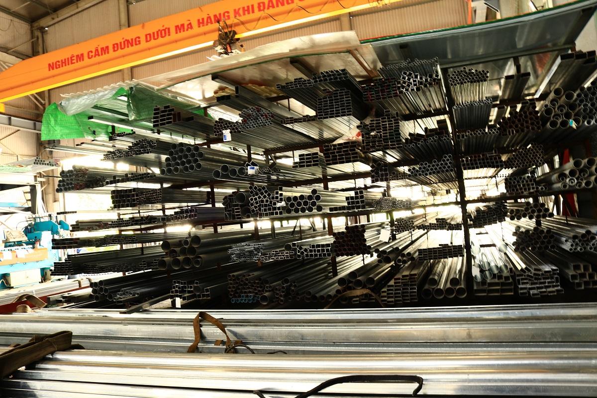 Sản xuất thép hộp mạ kẽm tại Hải Phòng